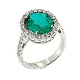 anello-oro-bianco-diamanti-smeraldo-ricristallizzato-crystal-ddonna-gioielli