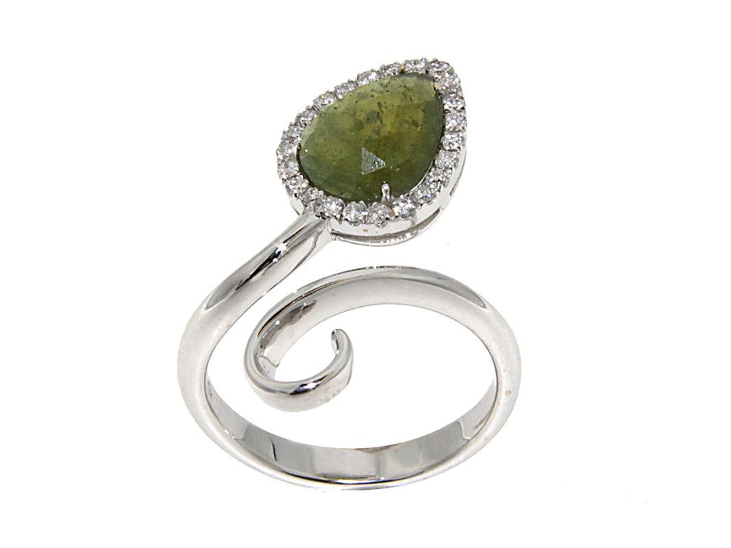 anello-oro-bianco-diamanti-zaffiro-verde-aida-flat-ddonna-gioielli