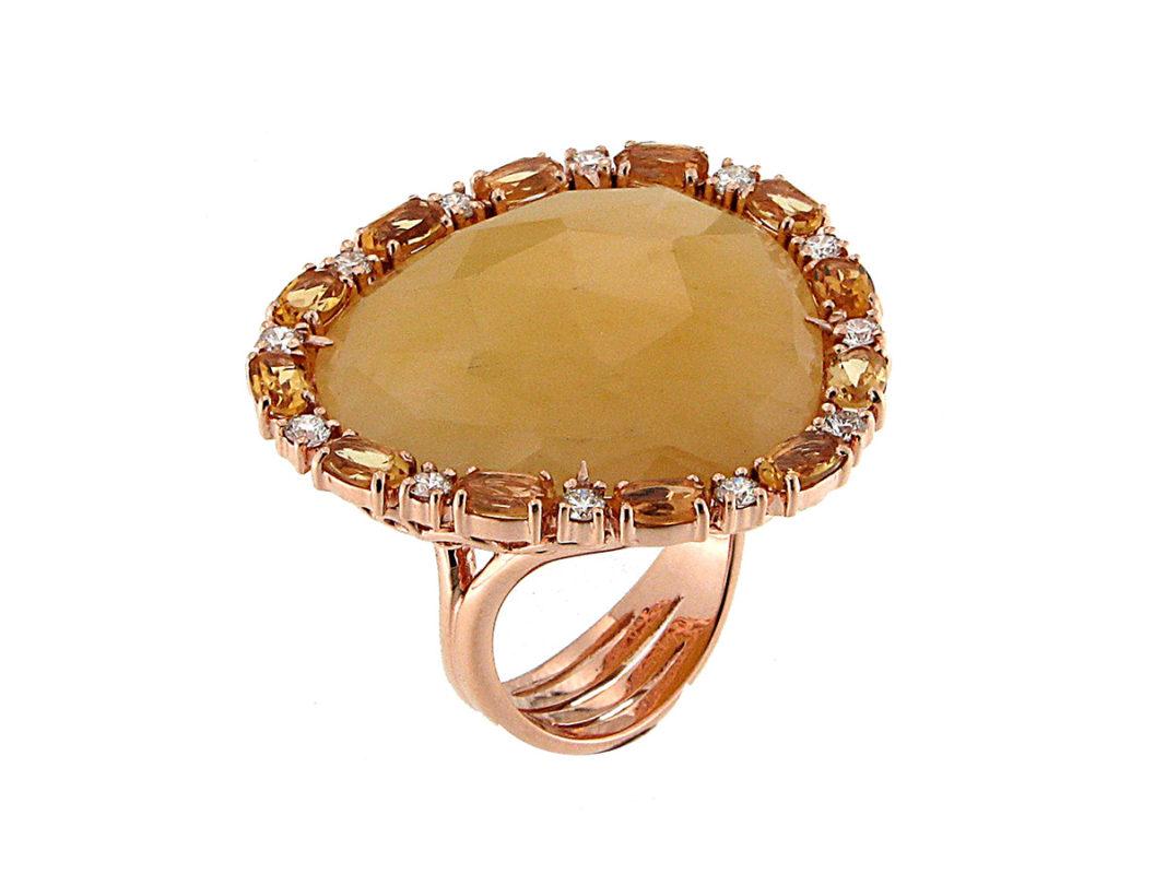 anello-oro-giallo-diamanti-citrini-avventurina-frida-ddonna-gioielli