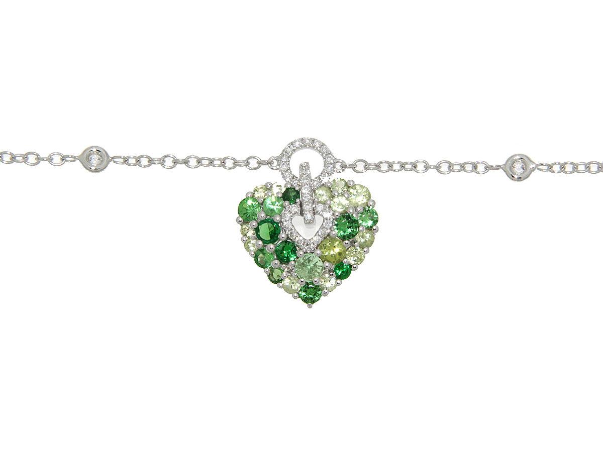 bracciale-oro-bianco-diamanti-peridoto-tsavrite-aurora-ddonna-gioielli