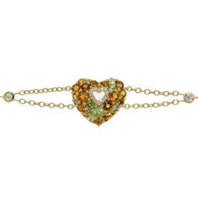 bracciale-oro-giallo-diamanti-peridoto-citrini-aurora-ddonna-gioielli