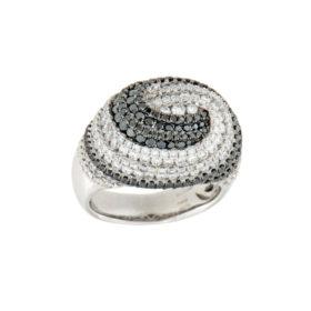 anello-oro-bianco-diamanti-ct-1,74-diamanti-neri-ct-1,49-twister-ddonna-gioielli