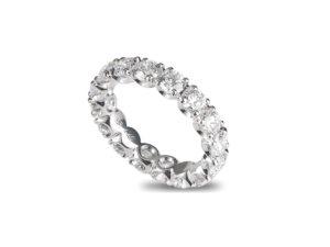 Anello in oro rosa/bianco 18 kt con diamanti