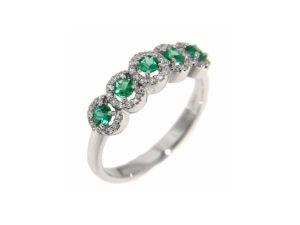 anello-oro-bianco-diamanti-smeraldi-dolce-vita-ddonna-gioielli