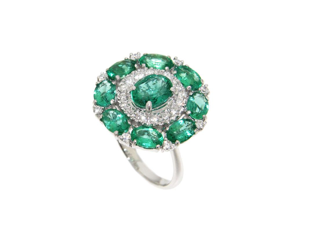 anello-oro-bianco-diamanti-smeraldi-sahara-ddonna-gioielli