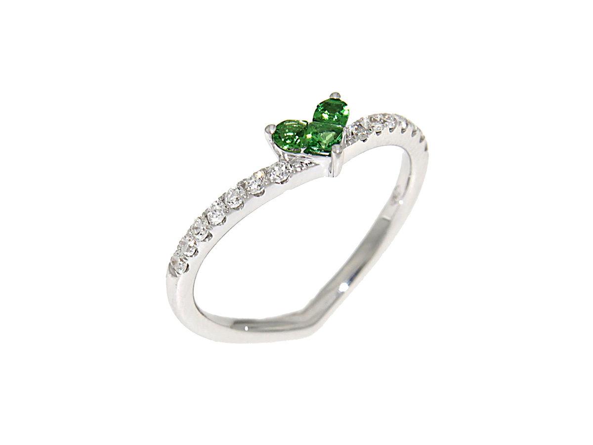 anello-oro-bianco-diamanti-tsavoriti-romeo-giulietta-ddonna-gioielli