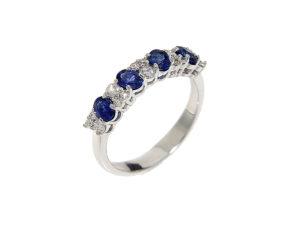 anello-oro-bianco-diamanti-zaffiri-blu-rainbow-ddonna-gioielli
