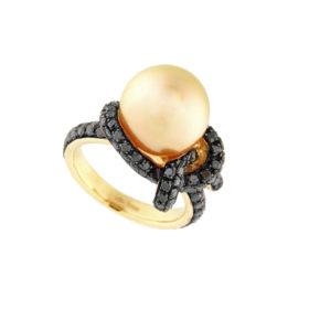 anello-oro-rosa-diamanti-brown-perla-australia-gold-icon-ddonna-gioielli