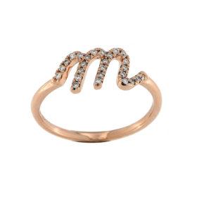 anello-oro-rosa-diamanti-lettere-amore-ddonna-gioielli