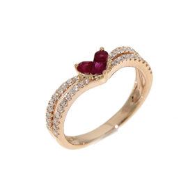 anello-oro-rosa-diamanti-rubini-romeo-giulietta-ddonna-gioielli