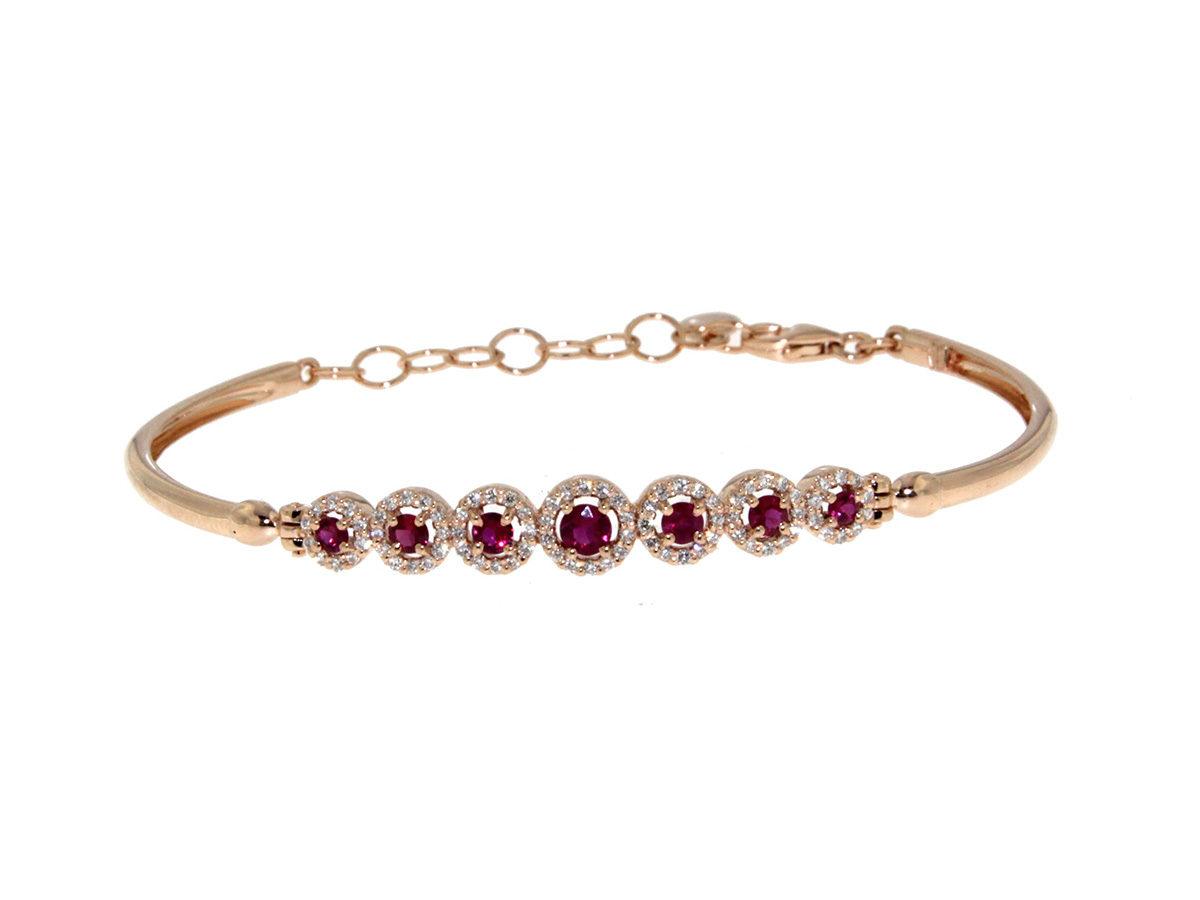 bracciale-oro-rosa-diamanti-rubini-dolce-vita-ddonna-gioielli