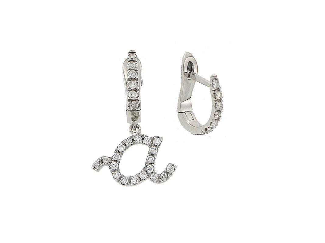 orecchini-oro-bianco-diamanti-lettere-amore-ddonna-gioielli