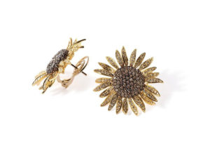 orecchini-oro-gialo-diamanti-girasole-ddonna-gioielli
