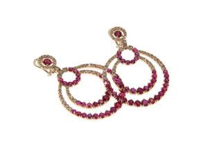 orecchini-oro-rosa-diamanti-brown-rubini-marina-ddonna-gioielli