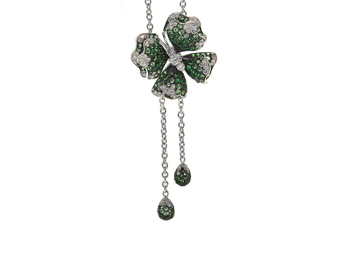 pendente-oro-bianco-diamanti-tsavoriti-butterfly-ddonna-gioielli