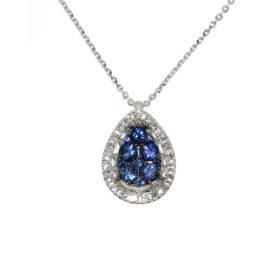 pendente-oro-bianco-diamanti-zaffiri-blu-linda-ddonna-gioielli