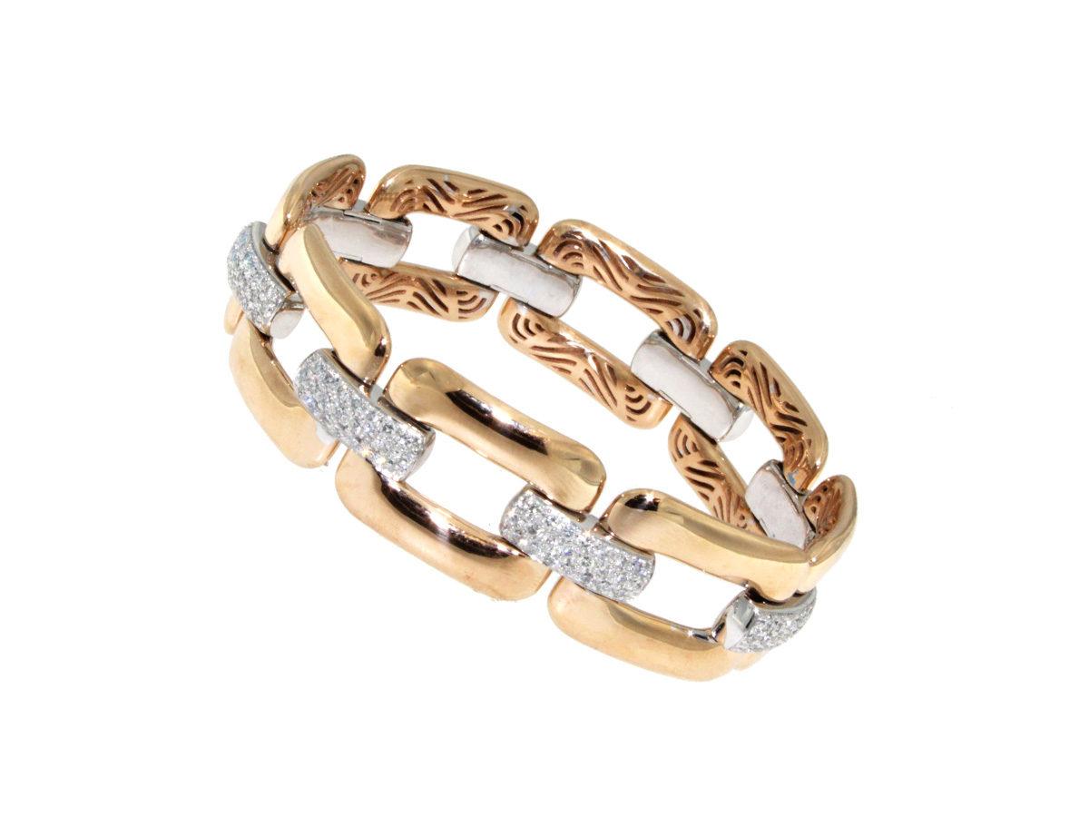 bracciale-oro-rosa-bianco-diamanti-ct-2.61-groumette-ddonna-gioielli